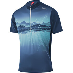 Löffler Peaks Half-Zip Bike Shirt Men, azul